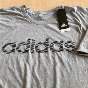 Adidas 2XL Tee shirt cotton NWT grey crew neck